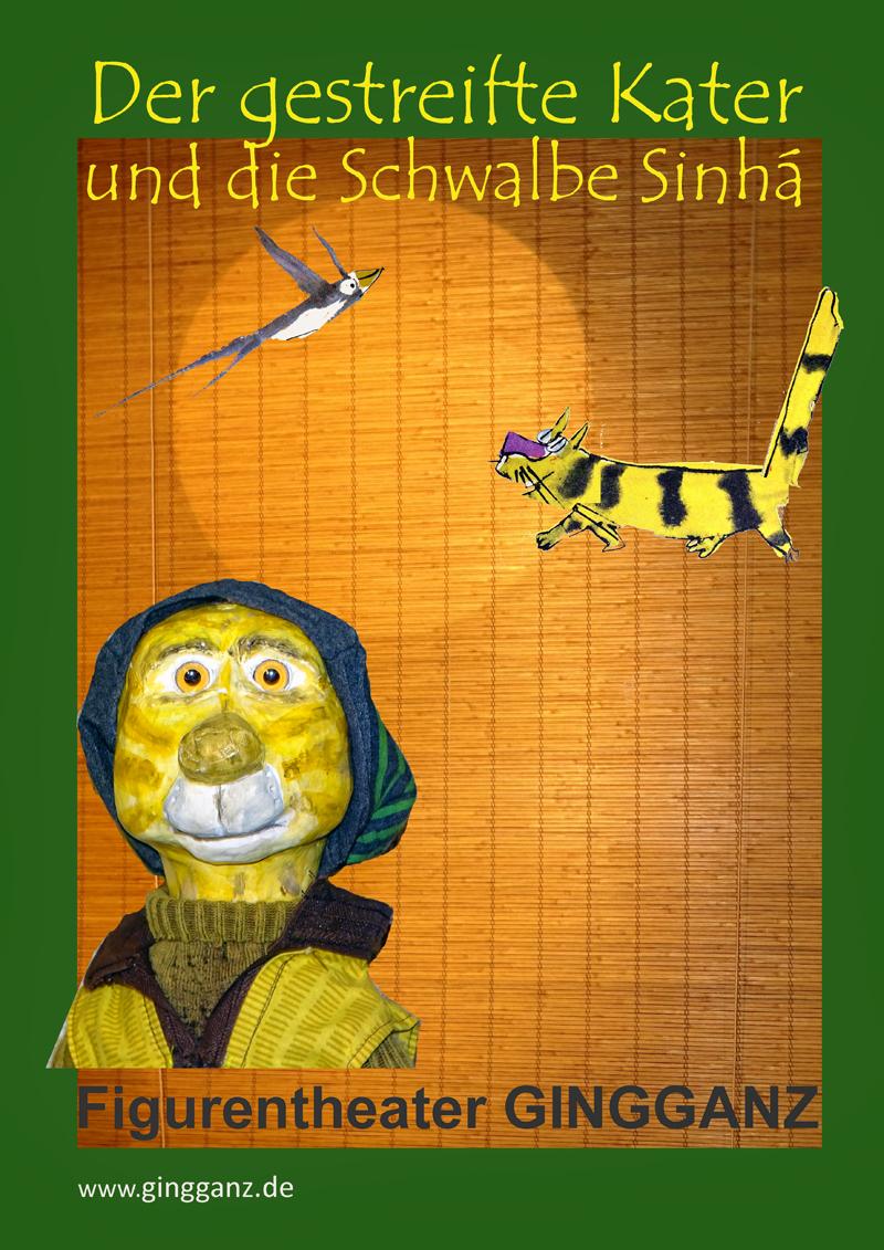 Der gestreifte Kater und die Schwalbe Sinhá