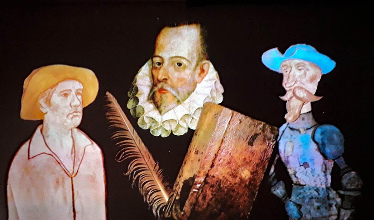 Miguel de Cervantes, Sanch Pansa und Don Quichotte